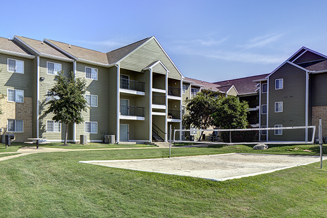 Volleyball court - Aggie Station Apartments