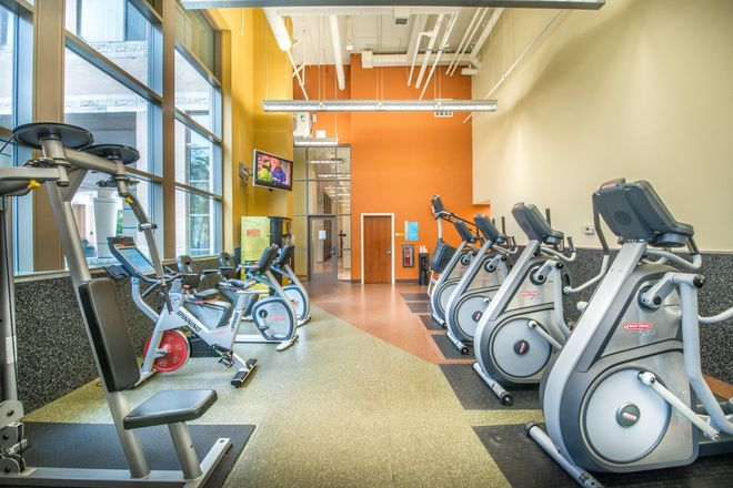 Get a workout in our 24 hour fitness center!