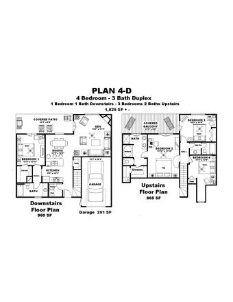 Floor Plan With Room Size
