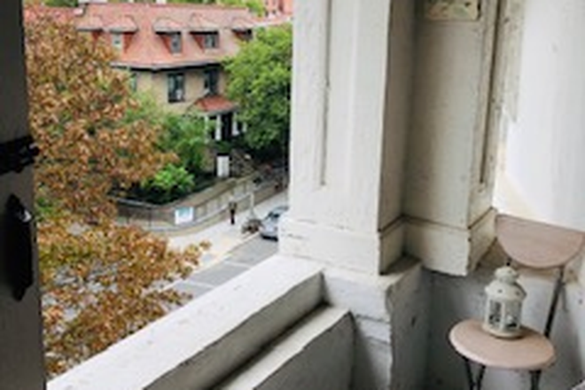 Covered Balcony - Perfect City Apartment- Walk or Ride Your Bike to Everything