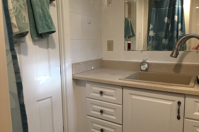 Bathroom from inside - Available January 10th - Fully Furnished Rental - 3113 44th Street NW