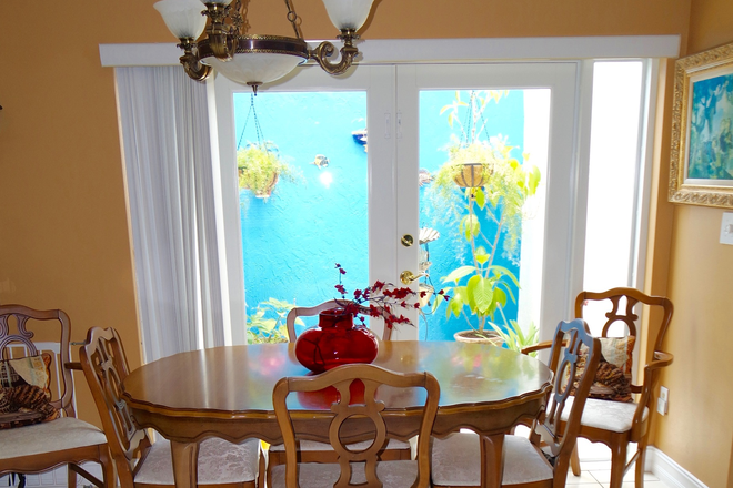 Dining room - Private Room fully furnished. Everything included. Free Parking. Rental