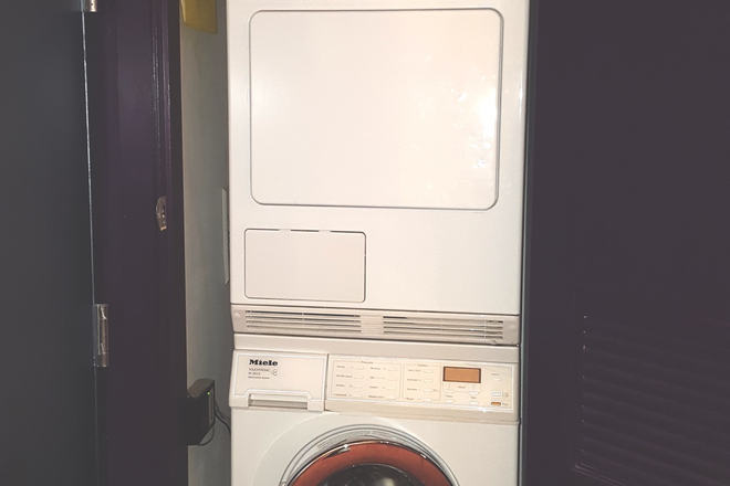 Miele washer dryer in unit - Bright Penthouse Level Loft Union Square-Furnished