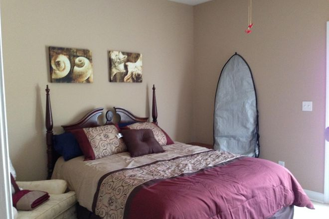 First floor master bedroom w/ ensuite - 321 S. Kerr Avenue, Unit 107, Wilmington, NC 28403.  Greenway Village Townhome
