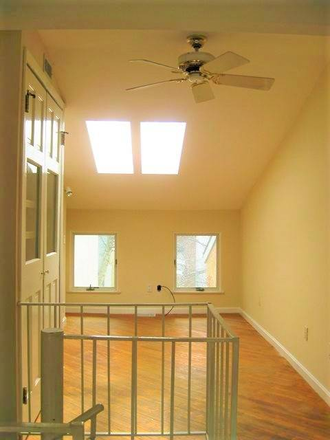 First bedroom, skylights - Beautiful, Remodeled  Otterbein Rowhome $1750 Townhome