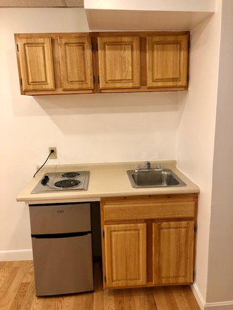 KITCHENETTE - CHECK THIS OUT! UNFURNISHED BACK BAY STUDIO AT 405 BEACON STREET AVAILABLE SEPTEMBER 1, 2021 Apartments