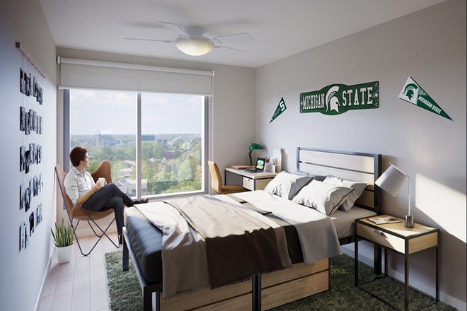 Private Bedroom (Southwest; Campus View)