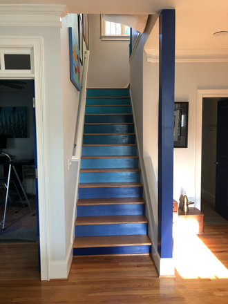 Stairs to the bedrooms - Large rooms with private bath in spacious house in heart of EAV, 15 min to Emory, 9 min to GA State Rental