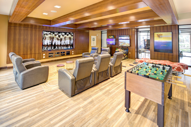 Enjoy watching sports in our clubhouse