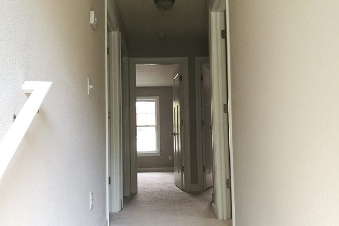 Hallway - 854 W 47th St, Norfolk, VA 23508. New house, one master bedroom available, next to ODU. Rental