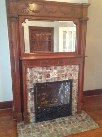 Inactive fireplace - electric