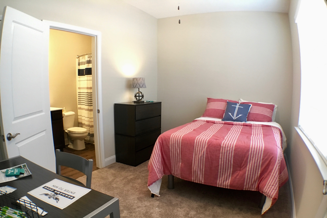 Bedroom - all have own full bath and furnished - Seahawk Cove - Now Leasing for Fall 2020 Apartments