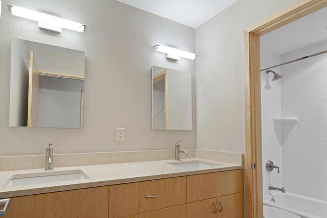 Bathroom- Double Vanity Sinks! - 10 minutes to campus! FREE parking! Apartments
