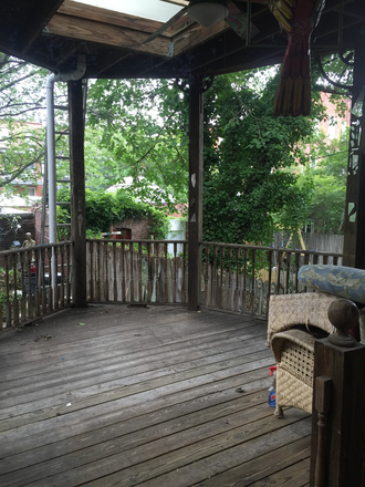 Huge Deck and backyard - Student Housing Available in Historic Charles Village Townhome