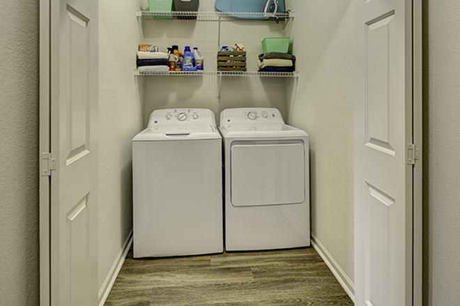 Laundry in-unit - Aggie Station Apartments