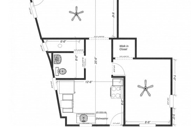 Floor plan - Avail 12/1/20 Center of NOHO 1 bd,,off street parking,laundry on-site,hardwood floors,avail. 7/1/2 Apartments