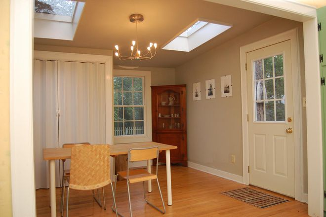 dining room adjacent to back yard - 3 BED/2 BATH HOUSE ,WALKING/BIKING DISTANCE FROM CAMPUS Rental