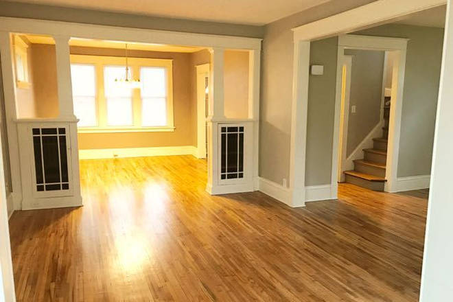 Large living/dining room - Fully renovated 4BD 2BA house in historic part of Saint Paul Rental