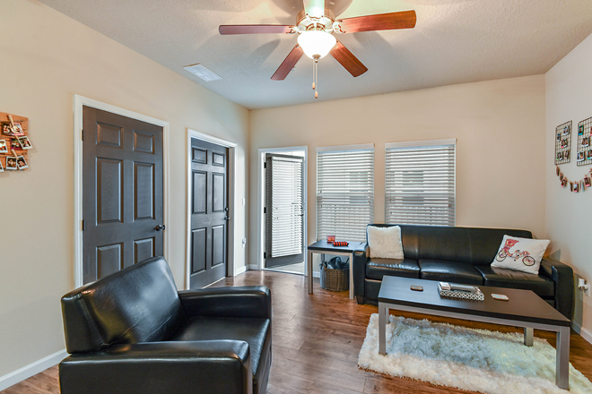 living room, balcony - LynCourt Square is the 2020 Student Property of the Year. Spacious, modern living for UF students! Apartments