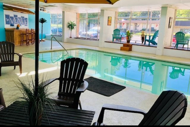 24 hr heated indoor saltwater pool