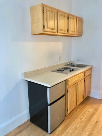 KITCHENETTE - FRESHLY PAINTED AND NEW HARDWOOD FLOORS! UNFURNISHED STUDIO AT 405 BEACON STREET AVAILABLE NOW Apartments