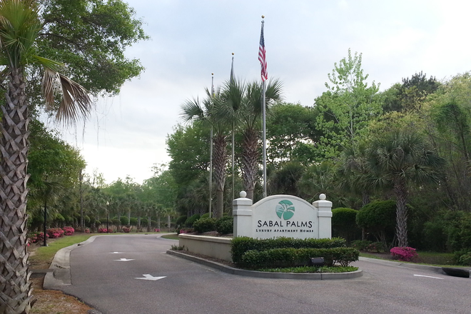 Main Entrance From Glenn McConnell - Sabal Palms Apartment Homes