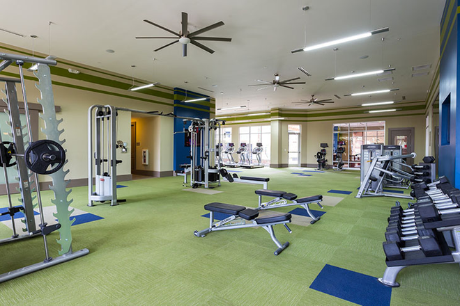 24/7 fitness center with yoga room - Ion Tuscaloosa Apartments