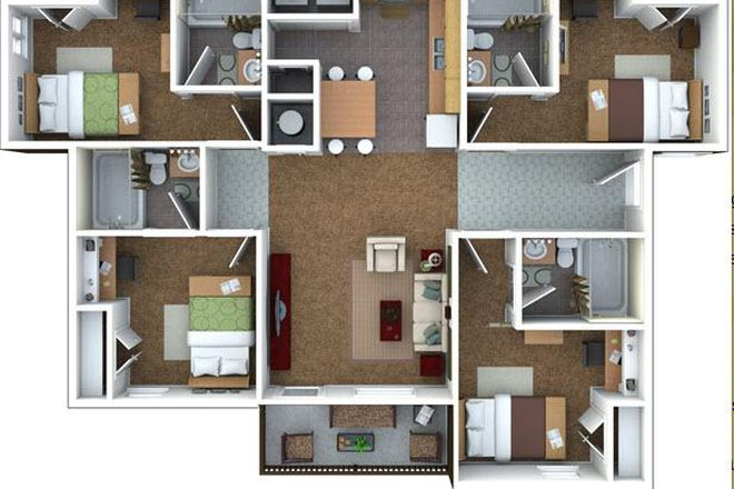4bed/2bath floor plan