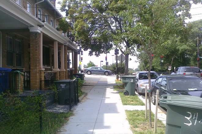 Outside street view towards metro - Brookland Townhouse for Rent
