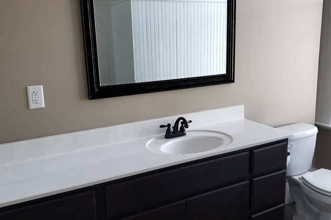 Bathroom Vanity - Pierce School Lofts, Located in the Village of East Davenport