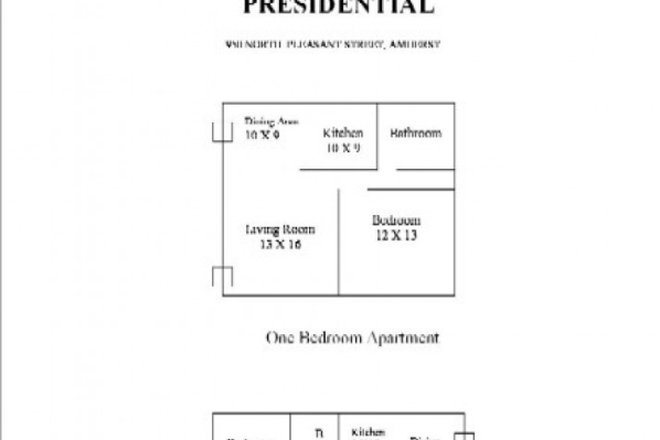 Floor plan - Presidential Apartments I and II  (Campus Area)