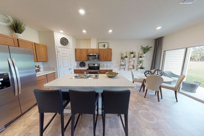 Kitchen with Dining Room and Patio Porch - Fully Furnished 1 Bed, 2.5 Bath, Brand New Townhouse (2 rentals available)