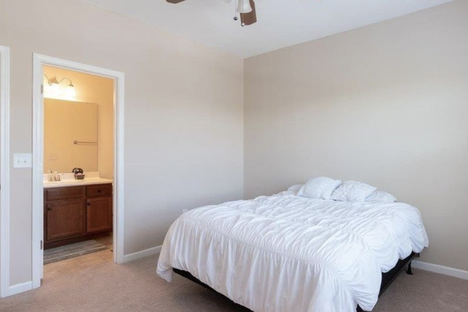 Your room. The bed isn't there now. - Private room and bath, $500, bills included Townhome