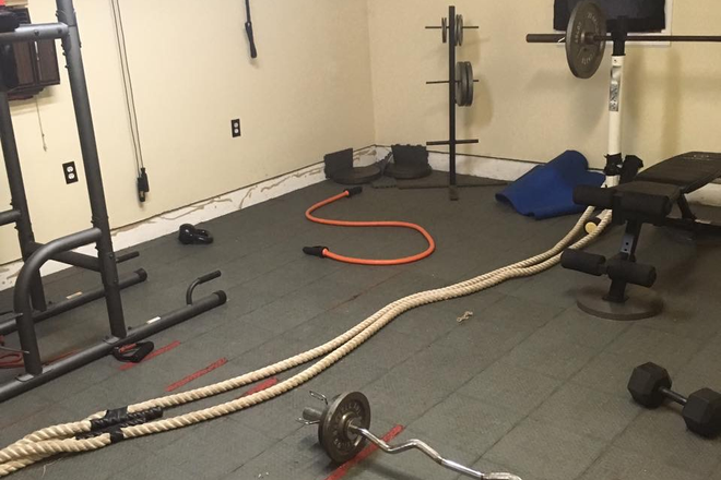 Additional gym room, equipment not included.