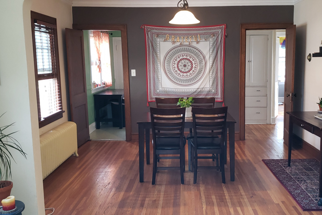 Dining Room - 2 bedroom / 1 bath at 2100 Saint Clair Ave: close to bus lines, bike lane Rental