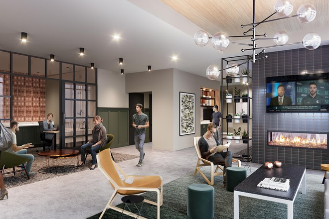 Main Lobby & On-Site Leasing Center - The Abbot - Limited Availability For Fall 2020 - Apply Today! Apartments