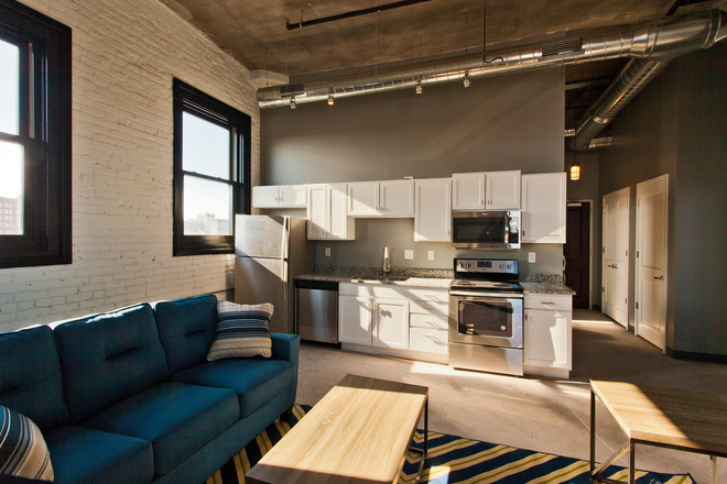 Living Room/Kitchen - Pershing Hill Lofts