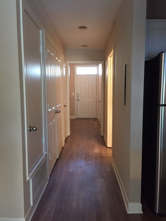 Plank wood flooring in upgraded units