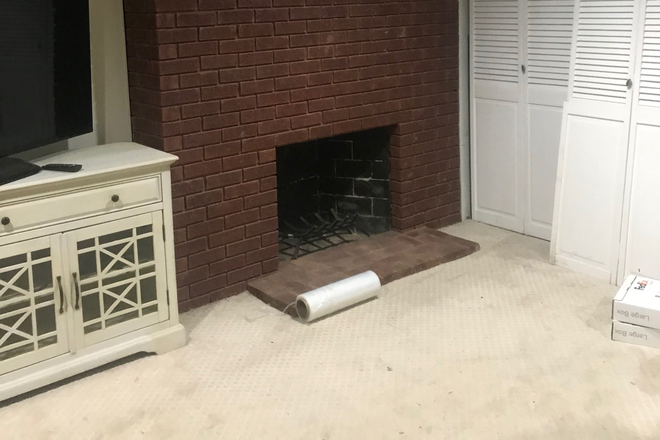 Fireplace - BEAUTIFUL LOGAN CIRCLE ENGLISH BSMT STUDIO AND OUTSIDE AREAS Apartments