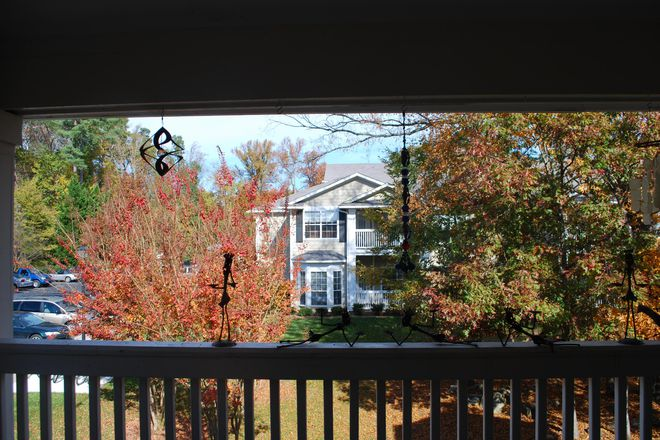covered second floor deck - Spacious 2 BR Apt with Office & Pool