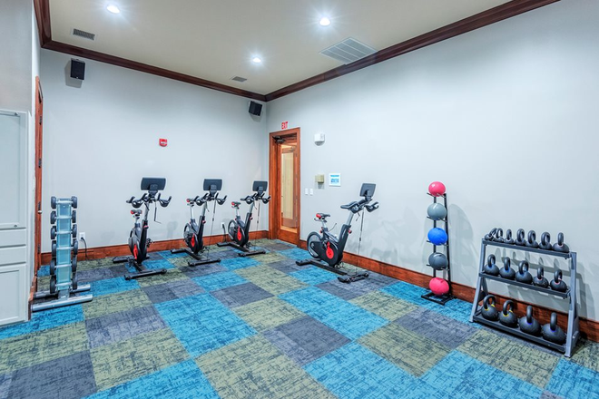 Yoga room - The Estates at River Pointe Apartments