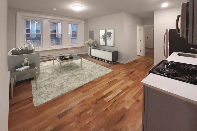 Kitche/Living - 4300 Chestnut Street: Renovated 1, 2, and 3 Bedroom Apartments Close to Campus. Laundry in Unit!