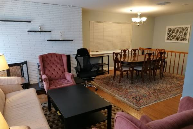 Dining Room and Living Room - Single Room in a 4 Room House Rental
