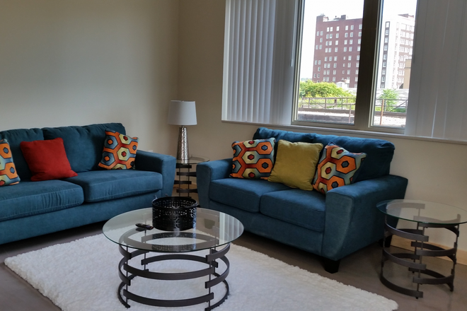 Living Room - Upscale Urban Loft Available at 501 Brady Lofts!