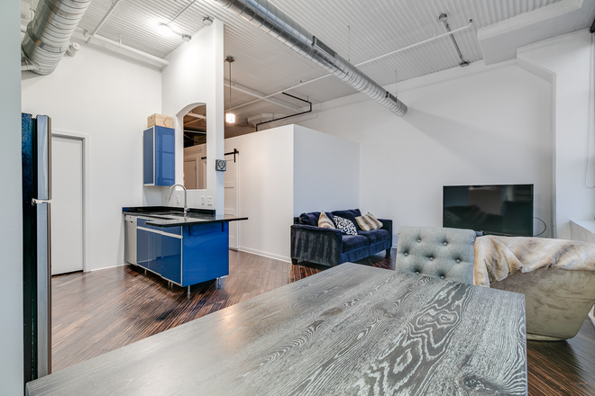 Interior - Spectacular corner industrial-style flat with 1-car garage Condo