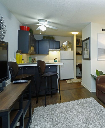 kitchen/ living room area - CEV apartments