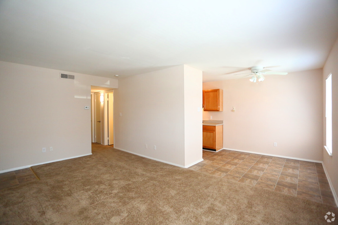 2BR,1BA,-750SF_Living Room and Dining Area