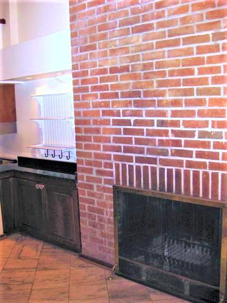 Lower-level fireplace off the kitchen - Beautiful, Remodeled  Otterbein Rowhome $1750 Townhome