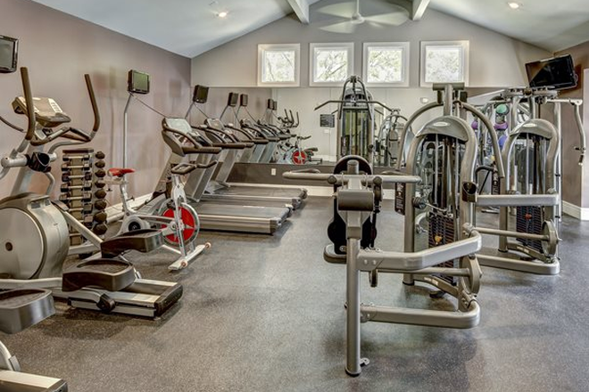 Fitness room - Aggie Station Apartments