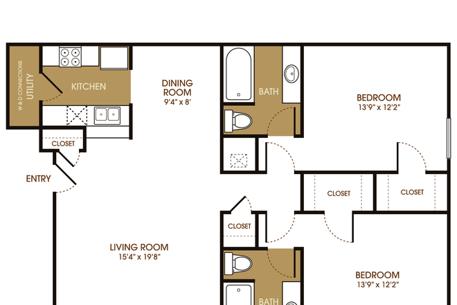 Redwood Ren. / Redwood two bed, two bath